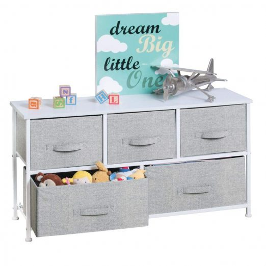 mDesign Extra Wide Dresser Storage