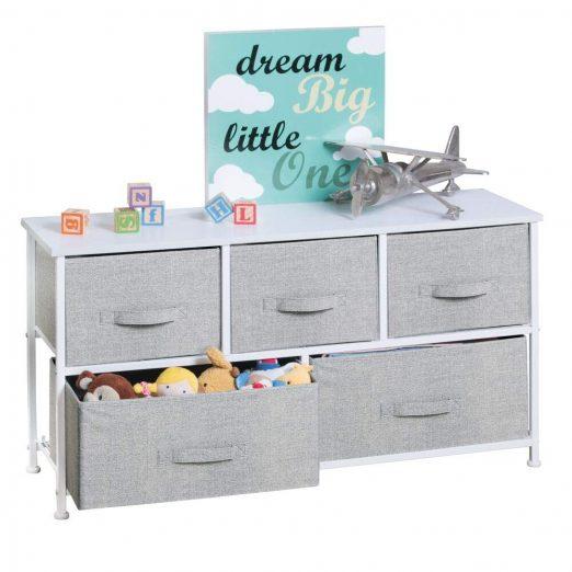 mDesign Extra Wide Dresser Storage