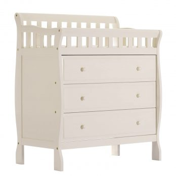 Wooden dresser and changing table