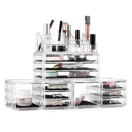 Organizador de maquillaje de acrílico. Organizador de cosméticos de acrílico. Organizador de acrílico transparente. Organizador de joyería.