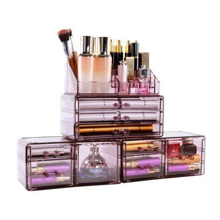 Organizador de maquillaje de acrílico. Organizador de cosméticos. Organizador de acrílico. Organizador de acrílico transparente.