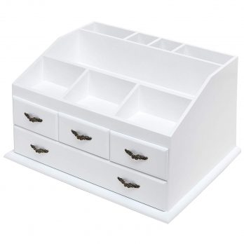 Shabby Chic White Wood Organizer