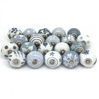 Artncraft Knobs Grey & White
