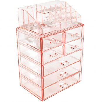 Sorbus Acrylic Cosmetics and Jewelry Organizer