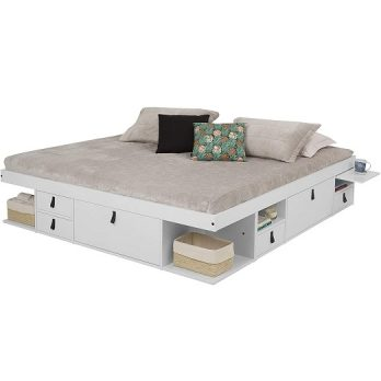 Storage Platform Bed with Drawers