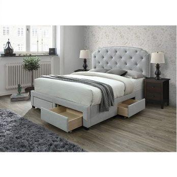Upholstered Panel Storage Bed