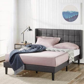 Zinus Dori Upholstered Square Stitched Bed