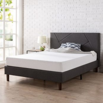 Zinus Upholstered Platform Bed, Queen / King/ Full