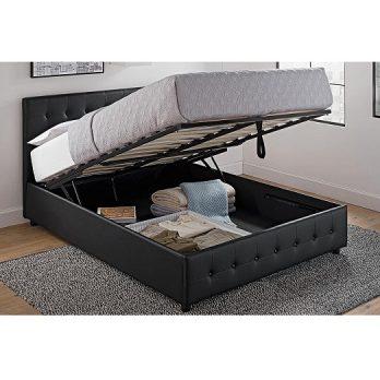Upholstered Faux Leather Platform Bed