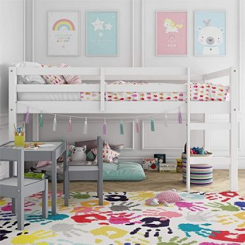 Junior Twin Loft Bed, White