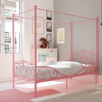 Canopy Bed with Sturdy Bed Frame
